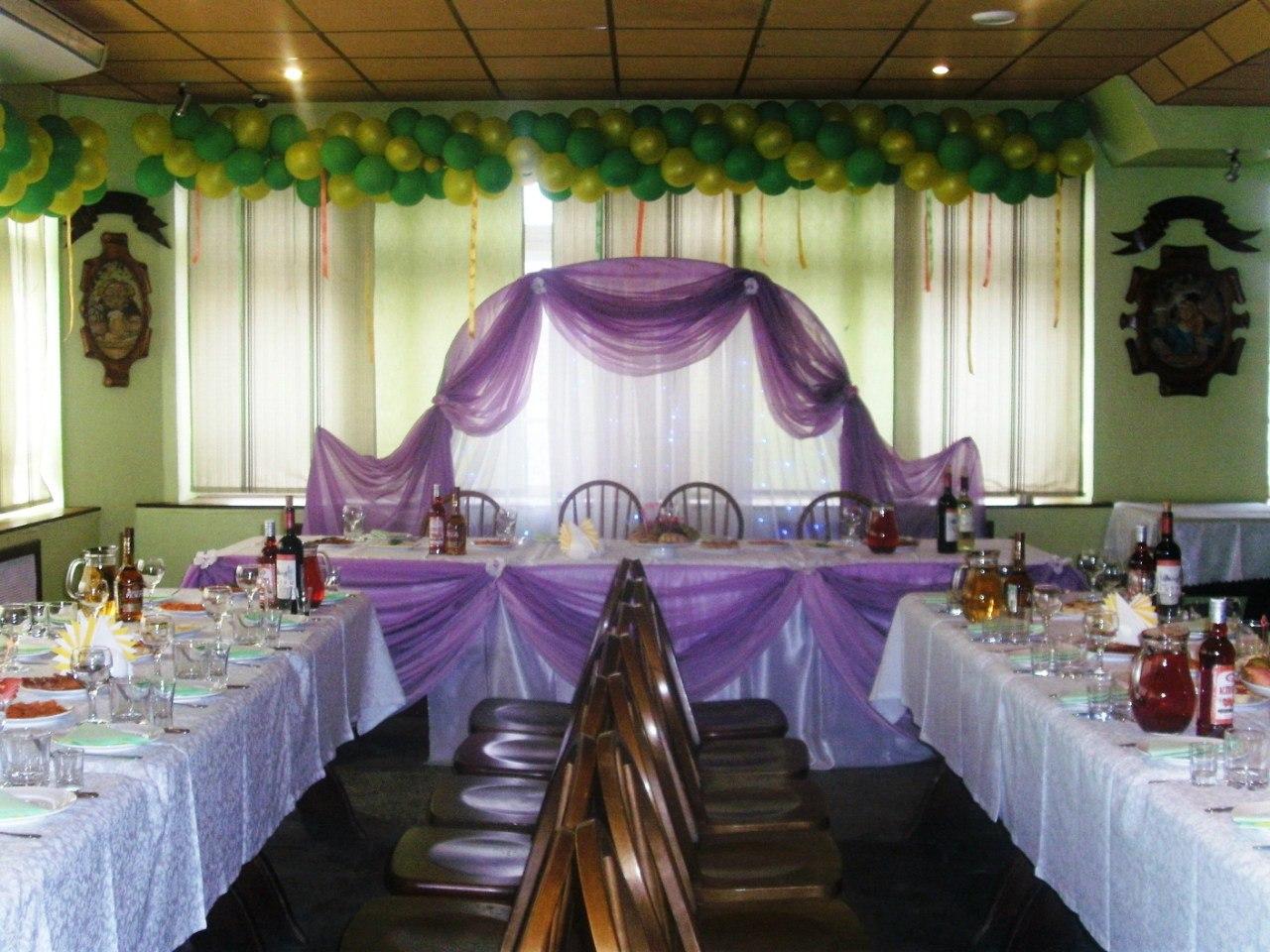 Украшение зала на свадьбу своими руками пошагово шарами